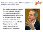 nick boles conservative mp for grantham and stamford december 2010