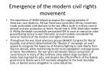 emergence of the modern civil rights movement