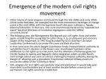 emergence of the modern civil rights movement2