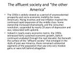 the affluent society and the other america