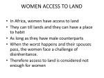 women access to land