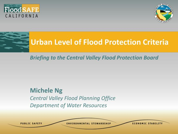 urban level of flood protection criteria n.