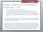 senge 3 ideas for a sustainable future pp 1 13