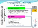 am nagement architecture urbanisation9