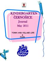 kindergarten erno ice journal may 2011 town and village life food