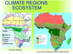 geography climate regions ecosystem