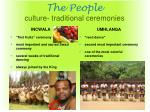 the people culture traditional ceremonies
