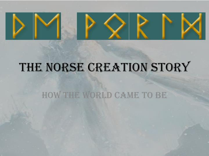 the norse creation story n.
