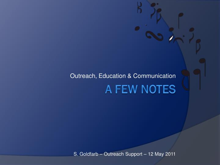 outreach education communication n.