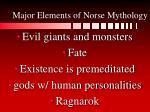 major elements of norse mythology