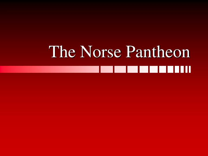 the norse pantheon n.
