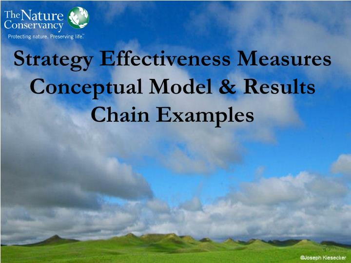 strategy effectiveness measures conceptual model results chain examples n.