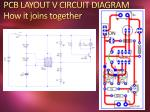pcb layout v circuit diagram how it joins together