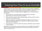 viewing your church as an outsider
