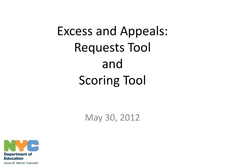 excess and appeals requests tool and scoring tool n.
