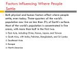 factors influencing where people settle