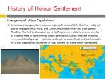 history of human settlement1