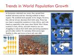 trends in world population growth1