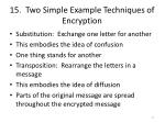 15 two simple example techniques of encryption
