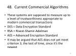 48 current commercial algorithms