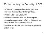 53 increasing the security of des