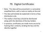 79 digital certificates