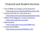 financial and student services