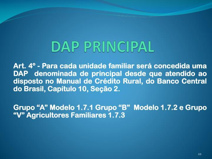 DAP PRINCIPAL