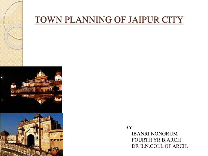 town planning of jaipur city n.