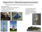 opposition libert emprisonnement