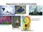 opposition mobile immobile