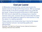 cost per leaver1