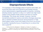 disproportionate effects1