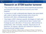 research on stem teacher turnover