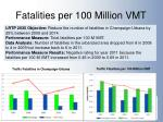 fatalities per 100 million vmt