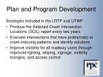 plan and program development