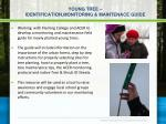 young tree identification monitoring maintenace guide