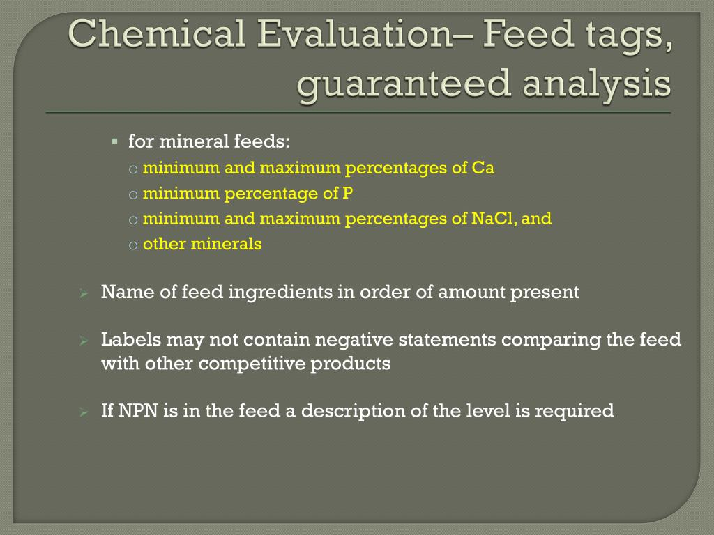 PPT - FEED ANALYSIS PowerPoint Presentation - ID:2240236