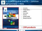 b a catalogue of marine common denominator data