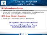 eumetsat in myocean review guidance