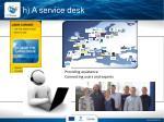 h a service desk