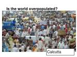 is the world overpopulated2