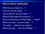 how to ask for clarification1