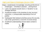 high level gaps challenges source gps
