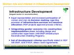 women role and interest in infrastructure development