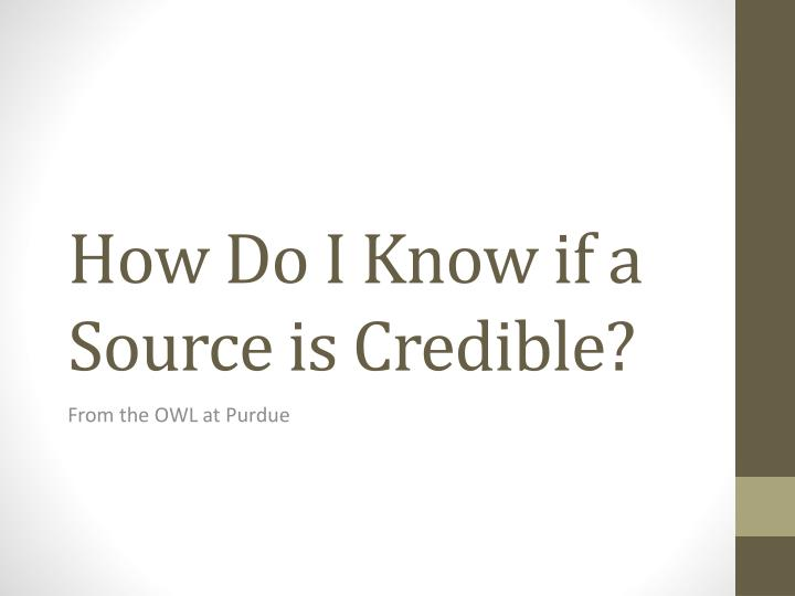 how do i know if a source is credible n.