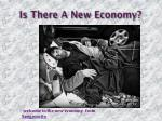 is there a new economy