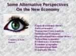some alternative perspectives on the new economy