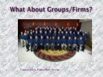 what about groups firms