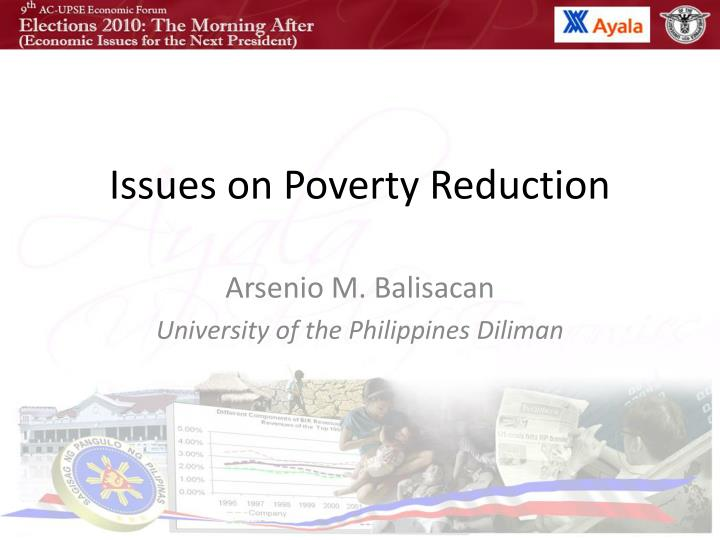 issues on poverty reduction n.